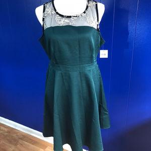 Altard State size L Hunter Green Dress NWT